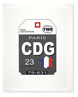 Paris Destination Tag, CDG