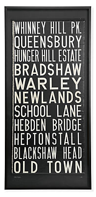 Vintage Large United Kingdom Trolley Sign