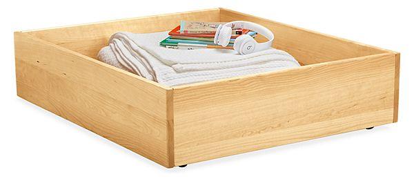 Wood Under Bed Storage Drawer Modern