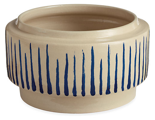 Penrose Striped Bowl Planter
