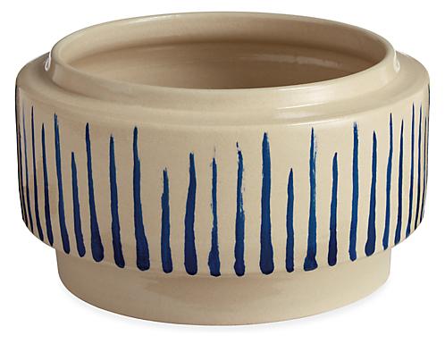 Penrose Striped Bowl Planter