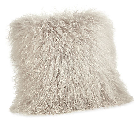 Tibetan Sheepskin 16w 16h Throw Pillow