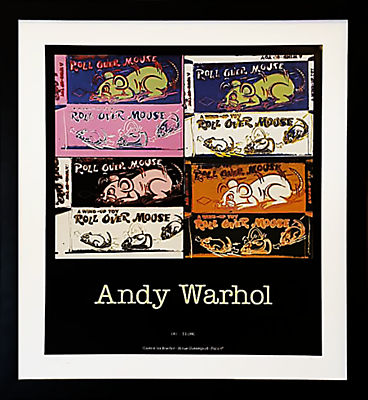 Vintage French Gallery Poster, Andy Warhol - Wall Art - Modern ...