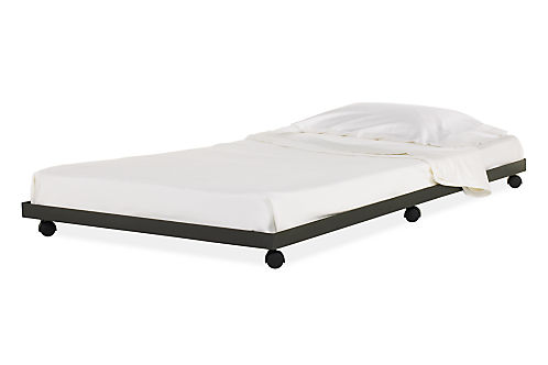 Steel Kids Trundle Bed Modern Beds Furniture Room Board