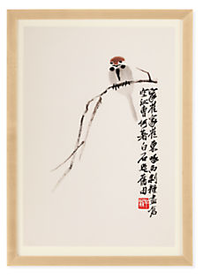 Qi Baishi Sparrow Reproduction