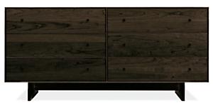 Hudson 60w 20d 28h Six-Drawer Dresser with Wood Base