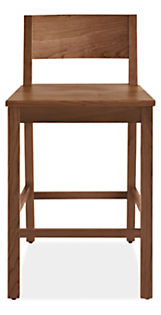 Afton Counter Stool with Wood Seat