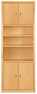 Woodwind 32w 12d 86h Four-Door Bookcase