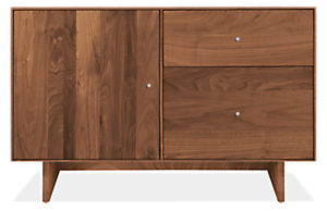 Hudson 44w 20d 28h File Cabinet with Wood Base