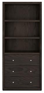 Lennox 32w 17d 72h Three-Drawer Bookcase