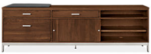 Linear 80.25w 16d 24.5h Left-File Drawer Bench with Cushion