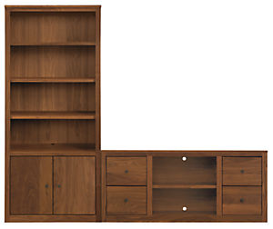 Woodwind 87w 17d 72h Two-Door/Four-Drawer Wall Unit