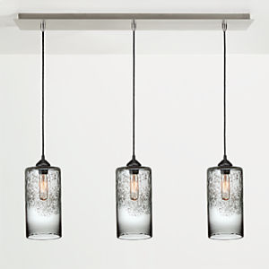 Abra Pendants with Rectangle Ceiling Plate - Set of Three