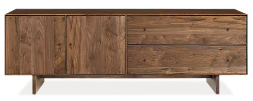 Hudson 72w 18d 24h Media Cabinet with Wood Base
