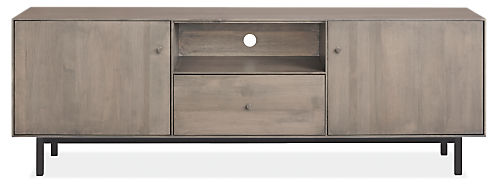 Hudson 72w 16d 24h Media Cabinet with Steel Base