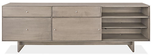 Hudson 80.25w 16.5d 24.5 Left-File Drawer Bench with Wood Base