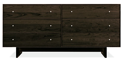 Hudson 60w 20d 28h Six-Drawer Dresser with Wood Base