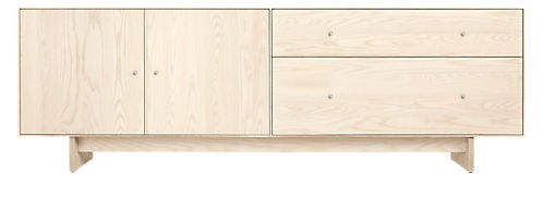 Hudson 86w 20d 28h File Cabinet with Wood Base