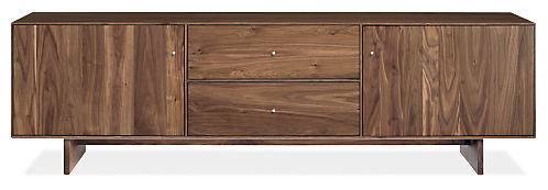 Hudson 82w 20d 24h Media Cabinet with Wood Base