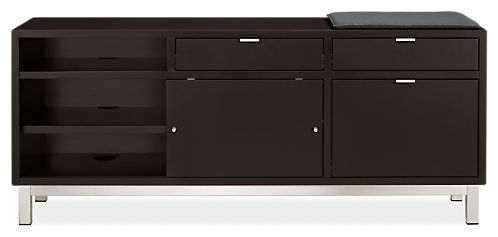 Copenhagen 60w 16d 25h Right-File Drawer Bench with Cushion