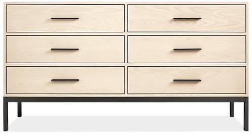 Alden 66w 20d 35h Six-Drawer Dresser