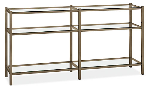 width board brixton stainless height image glass steel product console fit bookcase aspect and chairish room