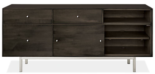 Hudson 60w 16.5d 24.5h Left-File Drawer Bench with Steel Base