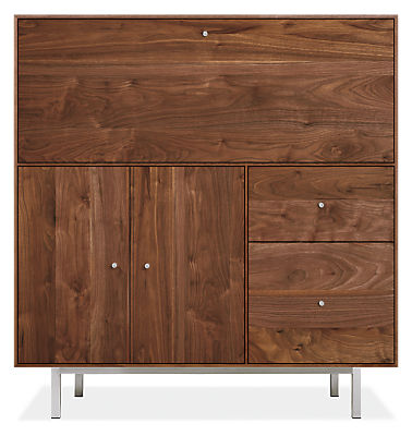 Hudson 42w 20d 44h Office Armoire with Steel Base