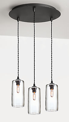 Swift Pendants with Round Ceiling Plate - Set of Three