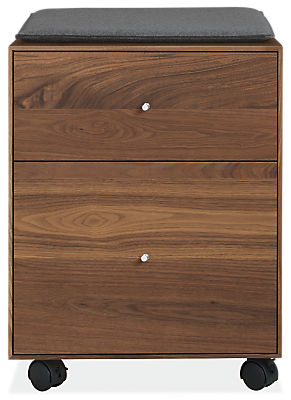 Hudson 19w 20d 25h Rolling File Cabinet with Cushion