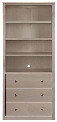 Woodwind 32w 17d 72h Three-Drawer Bookcase