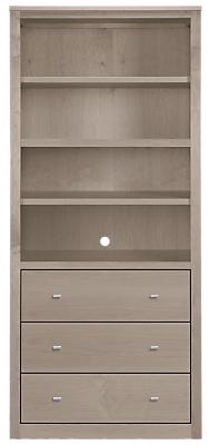Woodwind 32w 17d 72h Three-Drawer Bookcase