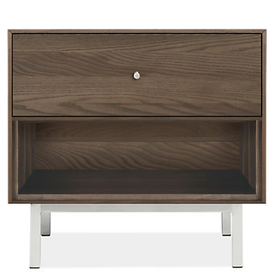 Hudson 26w 20d 22h One-Drawer Nightstand with Steel Base
