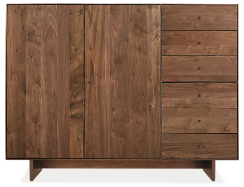 Hudson 65w 20d 50h Storage Cabinet with Wood Base