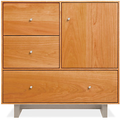 Hudson 24w 12d 24h Storage Cabinet with Wood Base