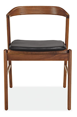 Jansen Side Chair with Leather Seat Cushion