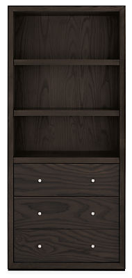 Lennox 32w 17d 72h Three-Drawer Bookcase