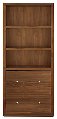 Lennox 32w 17d 72h Two-File Drawer Bookcase