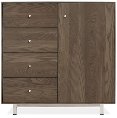Hudson Modern Small Steel Base Cabinets - Modern End Tables - Modern ...
