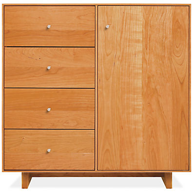 Hudson 30w 12d 30h Storage Cabinet with Wood Base