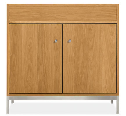 Linear 34.5w 21d 33.25h Bathroom Vanity Cabinet without Top & with Steel Base