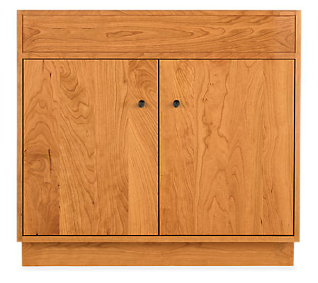 Linear 34.5w 21d 33.25h Bathroom Vanity Cabinet without Top & with Wood Base