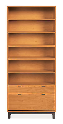 Copenhagen 36w 14d 82h One-File-Drawer Bookcase
