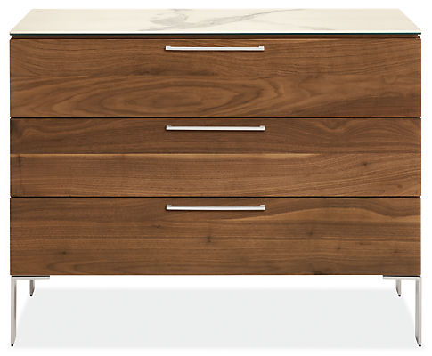 Kenwood 42w 20d 33h Three-Drawer Dresser with Ceramic Top
