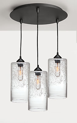 Abra Pendants with Round Ceiling Plate - Set of Three