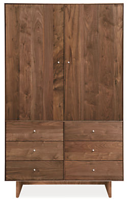 Hudson 44w 24d 71h Armoire with Wood Base