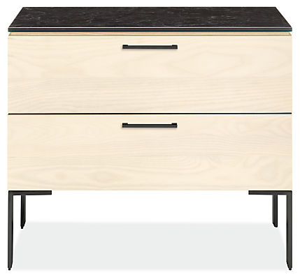 Kenwood 26w 20d 22h Two-Drawer Nightstand with Ceramic Top