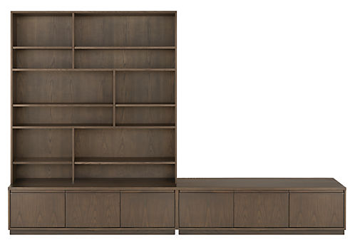 Keaton 120w 18d 80h Wall Unit Bookcases Delivered As Individual Units And Can