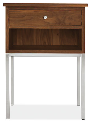 Linear 20w 16d 28h One-Drawer Nightstand with Wall-Mount Option