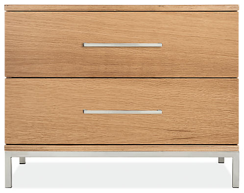 Baker 28w 19d 22h Two-Drawer Nightstand